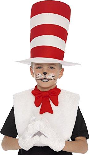 Smiffys 25731 - Katze im Hut Kit mit Handschuhe und Kragen Bow