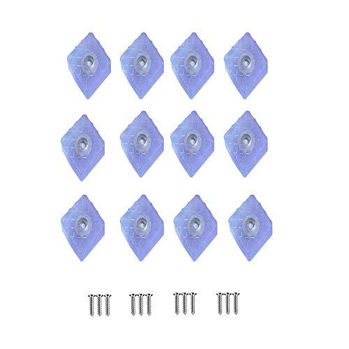 YUE QIN kwadratowy odbojnik gumowy, 30 x 30 mm, gumowe nóżki, przykręcane, ochrona mebli, stołów, krzeseł biurowych i delikatnych podłóg, kolor biały (12 sztuk)