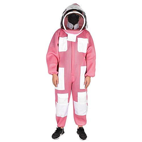Fdit Roze bijenteeltpak katoen bijenteelt jumpsuit imker beschermend pak kittel overalls