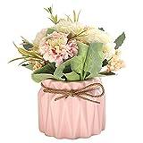 Bola de bordado de simulación para plantas en maceta de flores falsas Bonsai adornos para decoración de escritorio para el hogar, regalo de boda, verde, A