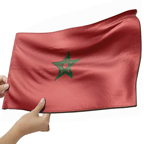Marokko Flagge als Lampe aus Holz - schenke deine individuelle Marokko Fahne - kreativer Dekoartikel aus Echtholz