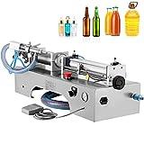 VEVOR Horizontal Full Pneumatic Liquid Filling Machine, 100-1000ml Semi-auto Pneumatic Liquid Filling, Single Head Liquid Filling Machine, for Various Liquids