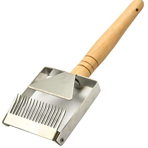 MaylFre Honig Schaber Edelstahl Honig Entdecklungsgabel Gabel-Messer Mit Holzgriff Beekeeper Ausrüstung Werkzeug 1 Stück