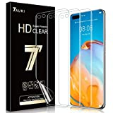 TAURI 3 Stück Schutzfolie Kompatibel Mit Huawei P40 Pro Bildschirmschutzfolie Fingerabdruck-ID unterstützen Blasenfreie Klar HD Weich TPU Folie