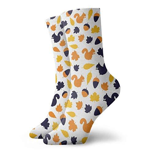 Ruin Eichhörnchen Nut Ahorn Socken Kurze Socke bequem verschleißfest rutschfest beide für Männer und Frauen, Polyester, weiß, Einheitsgröße