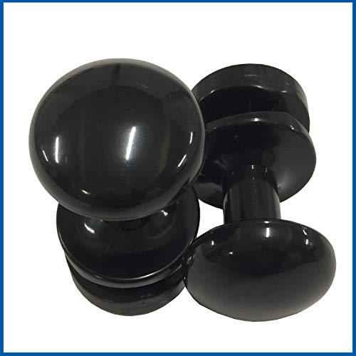 2 pieza Negro toallero Albornoz Soporte toalla ganchos colgadores. Para radiadores de baño