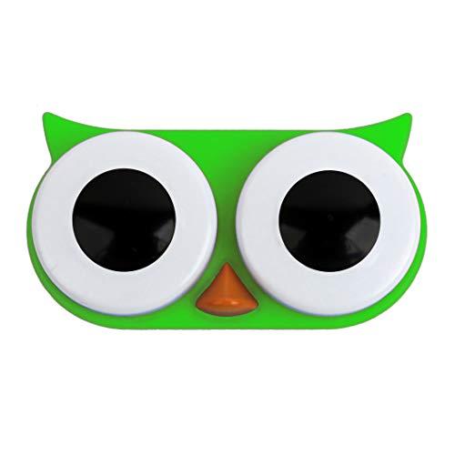 Kontaktlinsen-Behälter ''Eule'' - grün | Aufbewahrungsbehälter für Linsen | Reise Aufbewahrung für Kontaktlinsen | Linsenbehälter | Preis am Stiel®