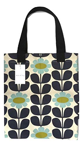 ORLA KIELY Shopping TOTE BAG Charity Limited Edition - Blue Tall Flower Pattern