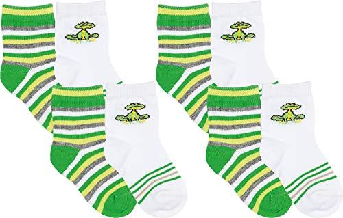 RS. Harmony | Bunte Baby Socken für Jungen & Mädchen | 8 Paar | weiß, grün | 80-86