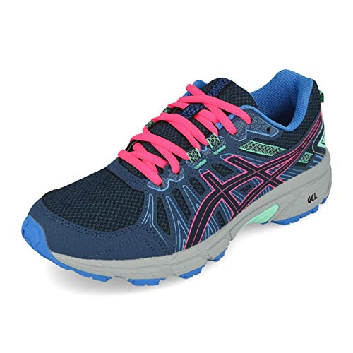 ASICS Unisex-Kind Gel-Venture 7 Gs Laufschuh, Peacoat/Hot Pink, 38 EU