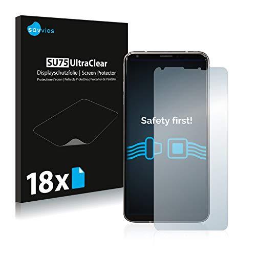 Savvies 18x Schutzfolie kompatibel mit LG V35 ThinQ Displayschutz-Folie Ultra-transparent