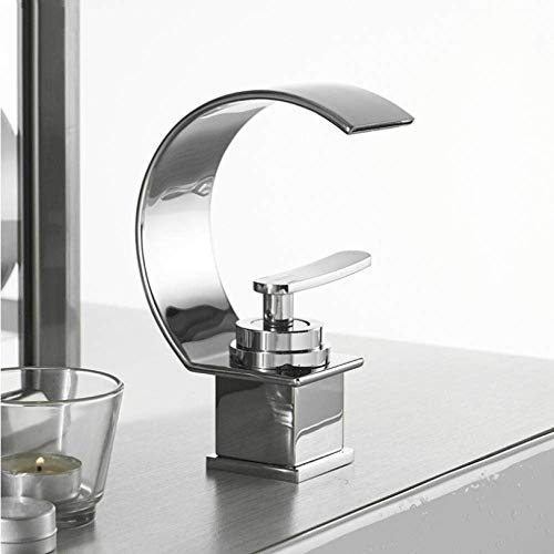 New Tyannan Gulakey Taps Basin Faucet Cold and Hot Water Waterfall Bathroom Faucet Single Handle Bas...