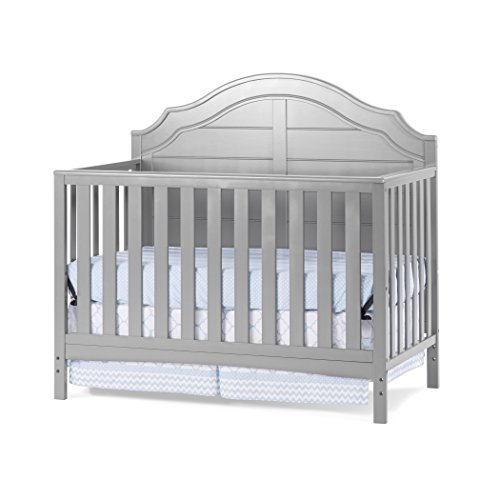 Child Craft Penelope 4-in-1 Convertible Crib, Cool Gray