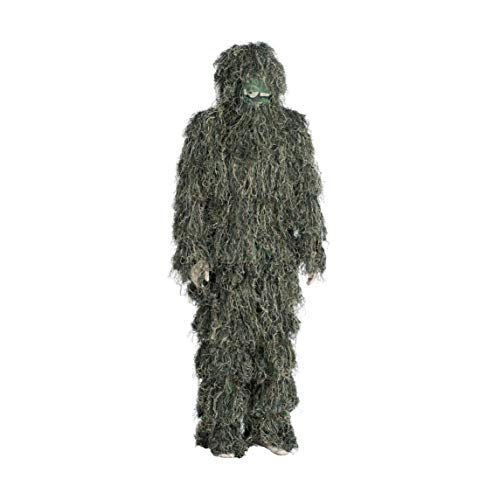 J.M RUSK 3D Woodland Camouflage Ghillie Suit for Hunting with Bag (XL) 3-Piece