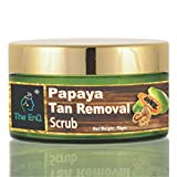 The EnQ Papaya Tan Removal 'Gentle and Mild ' Scrub for Skin Whitening, Dead Skin Cells, Natural Glow