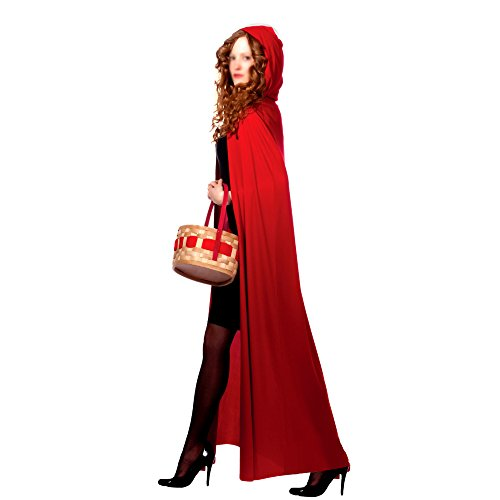 Amazon.com: AKAKING's Costume Full Length Red Hooded Cape Costumes, Red, One Size: Clothing