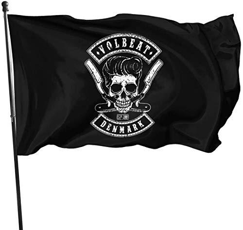 Oaqueen vlaggen/vaandel Volbeat decoratieve vlaggen vlaggen 3 X 5 ft vlag voor outdoor indoor huis decoratie