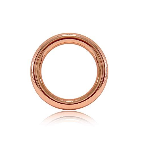 Ganzoo O - Ring aus Druckguss, 10er Set, DIY Hunde-Leine/Hunde-Halsband, nichtrostend, Ideal mit Paracord 550, geschweißt, Farbe: roségold
