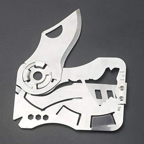 CRAFTOMATIK Messer Multi-Tool Scheckkarte | EDC für Geldbörse | Outdoor Survival Notfall-Gadget
