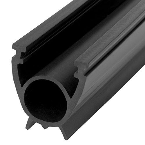 STEIGNER Garagentor Dichtung Bodenabdichtung aus PVC, 2,5 m, 33 mm x 41 mm, SBD01