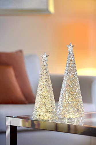 Preisvergleich Produktbild Sompex Weihnachtsbaum Tischleuchte Glamor / Batteriebetrieben / 33cm