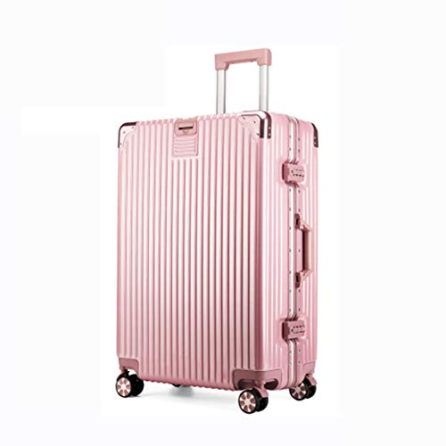 RSTJ-Sjef Extendable Hand Luggage Travel Trolley Case with Rotating Wheels, Suitable for Business Travel And Travel (Rose Gold),24 inches
