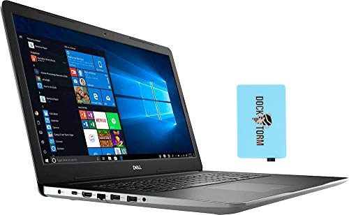 Dell Inspiron 17 3793 Home and Business Laptop (Intel i7-1065G7 4-Core, 32GB RAM, 256GB PCIe SSD + 2TB HDD, NVIDIA MX230, 17.3' Full HD (1920x1080), WiFi, Bluetooth, Webcam, Win 10 Pro) with Hub