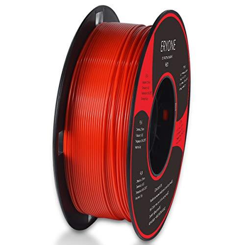 Filamento PLA 1.75mm, Eryone PLA Filamento de PLA para Impresión 3D, 1kg 1 Spool, Rojo