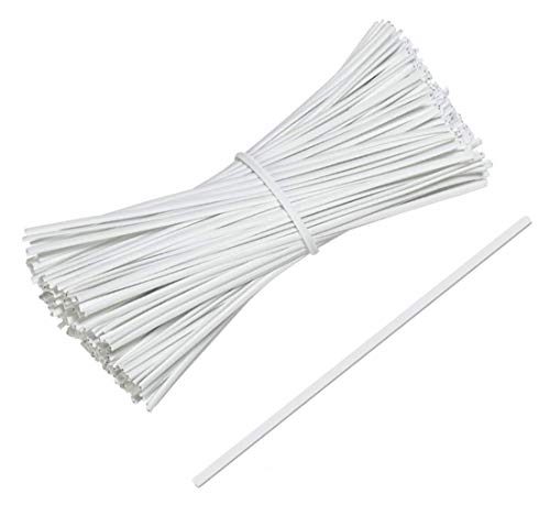 """APQ Pack of 2000 Paper Twist Ties 4' Long and 3/16"""" Wide. White Twist Ties for Plastic Trash, Bread Bags. Paper Coated Ties. Bendable Multi-Function Strong Wire Ties for Tying Gift Bags. Wholesale."""