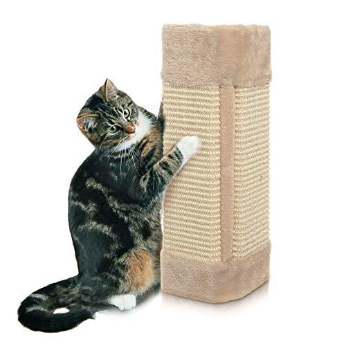 HI Katzen-kratzbrett faltbar Eckkratzbrett Kratzecke für Wand oder Ecken