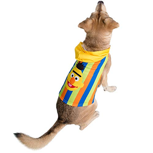 Pet Krewe Bert Costume - Sesame Street Bert Dog Costume - Fits Small, Medium, Large and Extra Large Pets - Perfect for Halloween, Parties, Photoshoots, Gifts for Dog Lovers (L)
