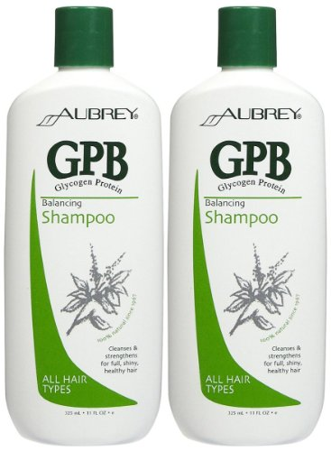 Aubrey Organics GPB Glycogen Protein Balancing Shampoo - 11 oz - 2 pk