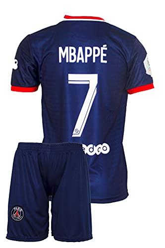 IHIMI Paris Kylian Mbappe Kinder Trikot #7, 2021/2022 Saison, Heim, Komm mit Shorts und Socken Fußballfans (10-11 Jahre,164)