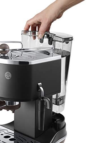 DeLonghi ECOV311.BK Cafetera Espresso Vintage Icona, Independiente, Semi-autom?tica,