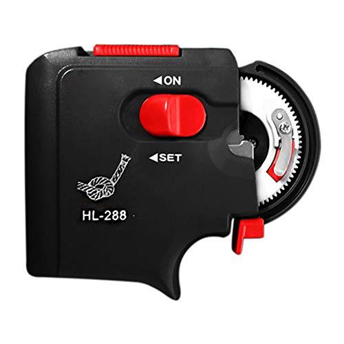 XQxiqi689sy Tragbare elektrische automatische Angelschnur mit Hakenleiste Einheitsgröße Schwarz