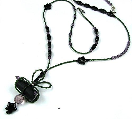 Rosa Templin Halskette Lakritzkonfekt und Perlen