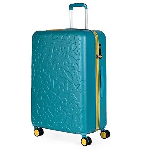 Lois - Maleta de Viaje Grande 4 Ruedas Trolley 75 cm Rígida de ABS. Dura Práctica Cómoda Ligera y Bonita Marca de Confianza y Estilo. Candado TSA. 171170, Color Aguamarina