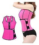 Chaleco Neopreno Faja Reductora Mujer Camisetas Sauna Adelgazantes Cinturón de Entrenamiento para Mujeres Corsé (Color : Pink, Size : XXL)