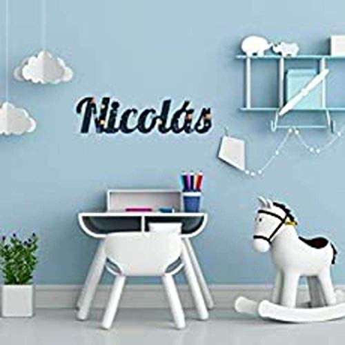 Nombres en Madera Nombres personalizados para decoración y hogar • Nombres Decorativos en madera natural y con texturas a color !! • 30 cm | 40 cm | 50 cm