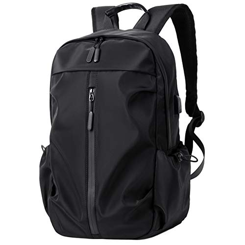 MAOZAO Casual Backpack Men's Backpack Waterproof Anti-Theft Travel School Bag Fashion Trend Business Computer Bag,Black