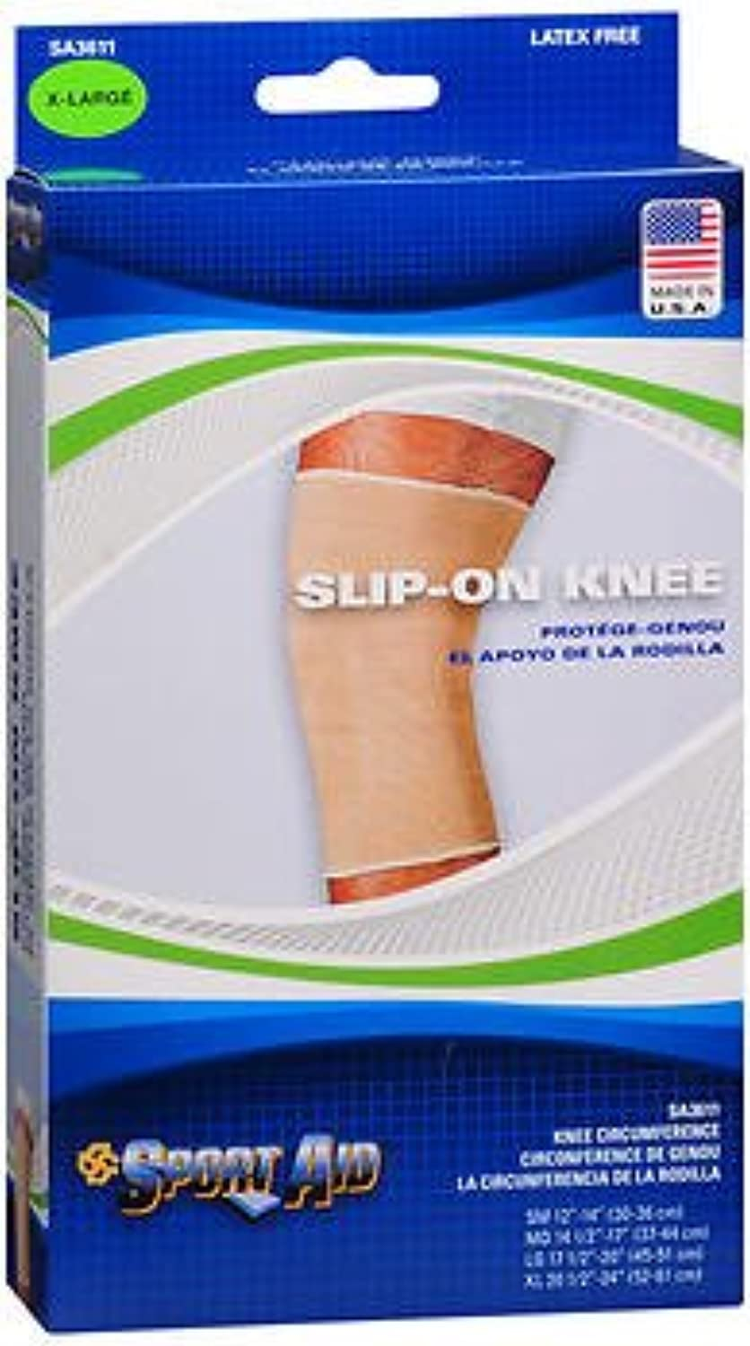 Sport Aid SlipOn Knee Wrap XL Beige  1 ea., Pack of 4