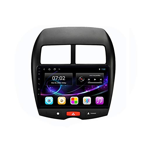 MGYQ Android 10.0 Car Audio Stereo Head Unit GPS Navigation Supports Bluetooth Voice Call WIFI Steering Wheel Control 1080P Video FM Radio, for Mitsubishi ASX 2010-2017,Quad core,WIFI 1+32