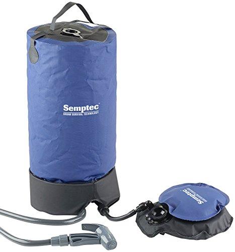 Semptec Urban Survival Technology Solardusche: Tragbare Druck-Campingdusche mit Fußpumpe, 11 Liter (tragbare Dusche)