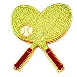 限定 レア ピンバッジ テニスラケット2本と球 ピンズ フランス