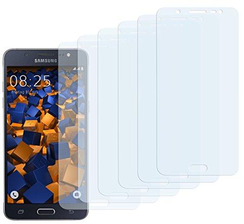 mumbi Schutzfolie kompatibel mit Samsung Galaxy J5 2016 Folie klar, Displayschutzfolie (6x)