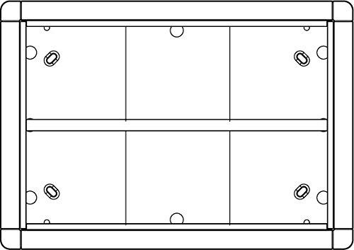 Ritto 1883670 Portier Rahmen AP 6fach weiss