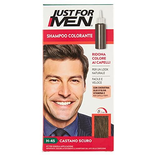 Just for Men Shampoo Colorante, H45 – Castano Scuro, Shampoo