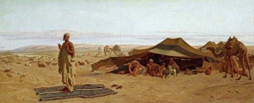 Kunst für Alle Impresión artística/Póster: Frederick Goodall Evening Prayer in The West 1872' - Impresión, Foto, póster artístico, 100x40 cm