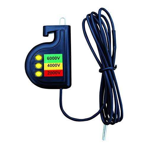 ADIC Zaunprüfer Weidezaun 6000 Pro, 3-stufige Anzeige, Strompruefer, für Elektrozaun, Prüfgerät. Messgerät Strom, Strommessgeraet Kabel, Stromzaun Tester