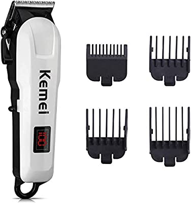 EVERWELL Hair Clipper for Men Cordless Trimmer, LED Display, Haircut Kit with 4 Guide Combs for Quick Cut, Rechargeable with Stainless Steel Blades by EVERWELL